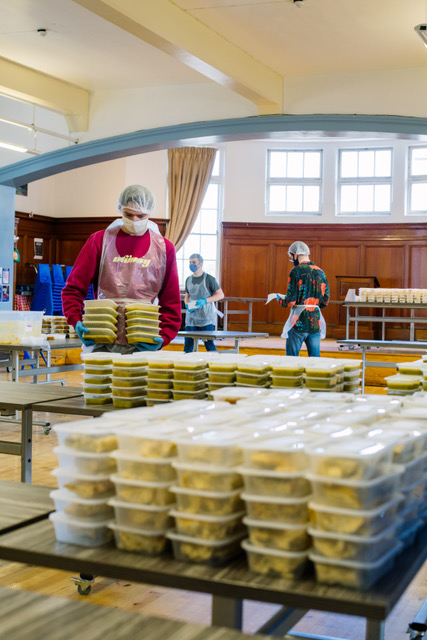 A picture of people preparing food- Deadline news Business News Scotland
