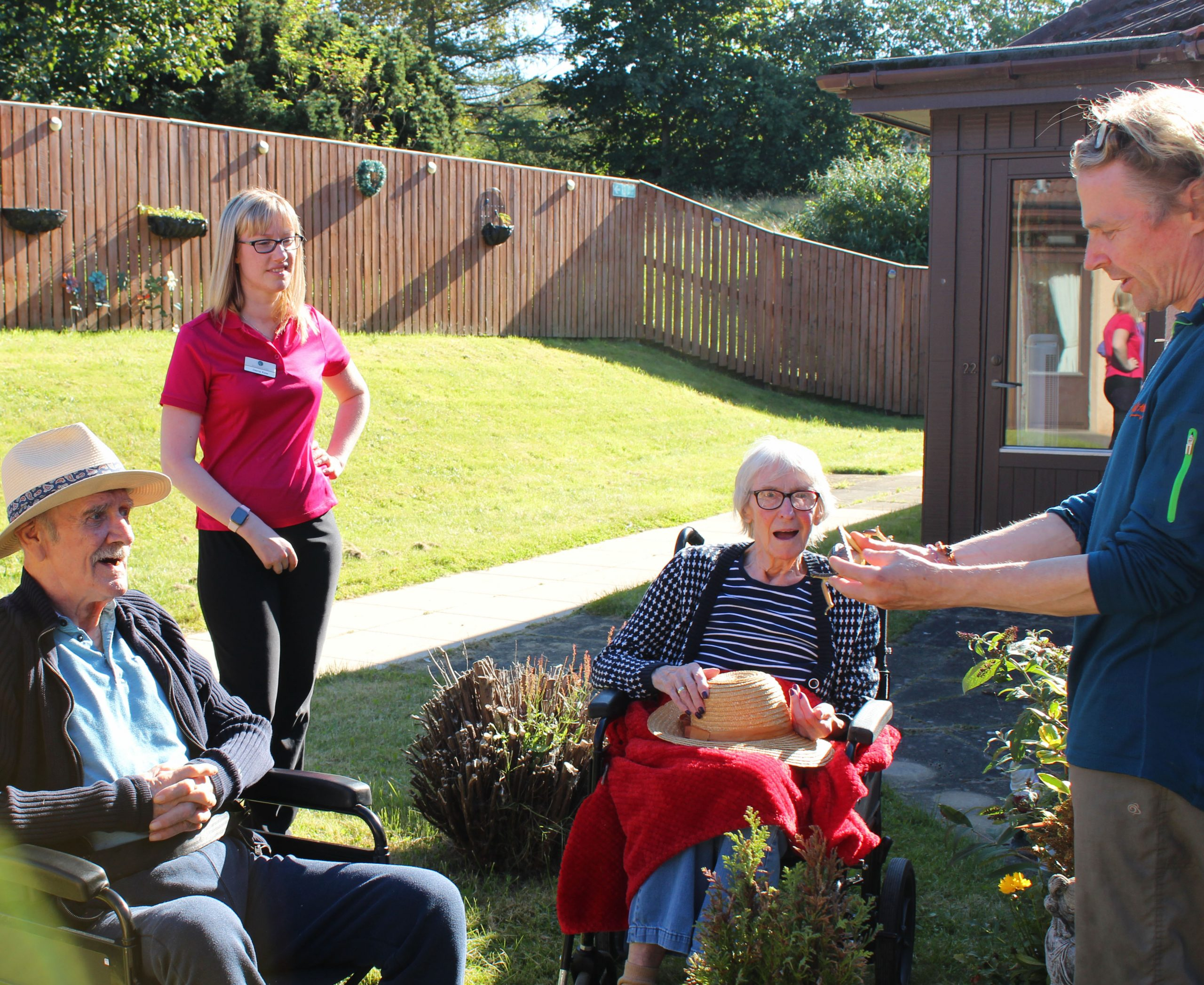 Pictures, Silver Saplings care home residents