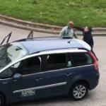 Passenger punching driver