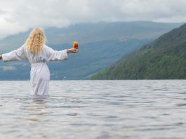 A picture of a woman by Tayside Marina.