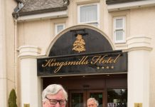 Fergus Ewing stood outside the front of the Kingsmills hotel