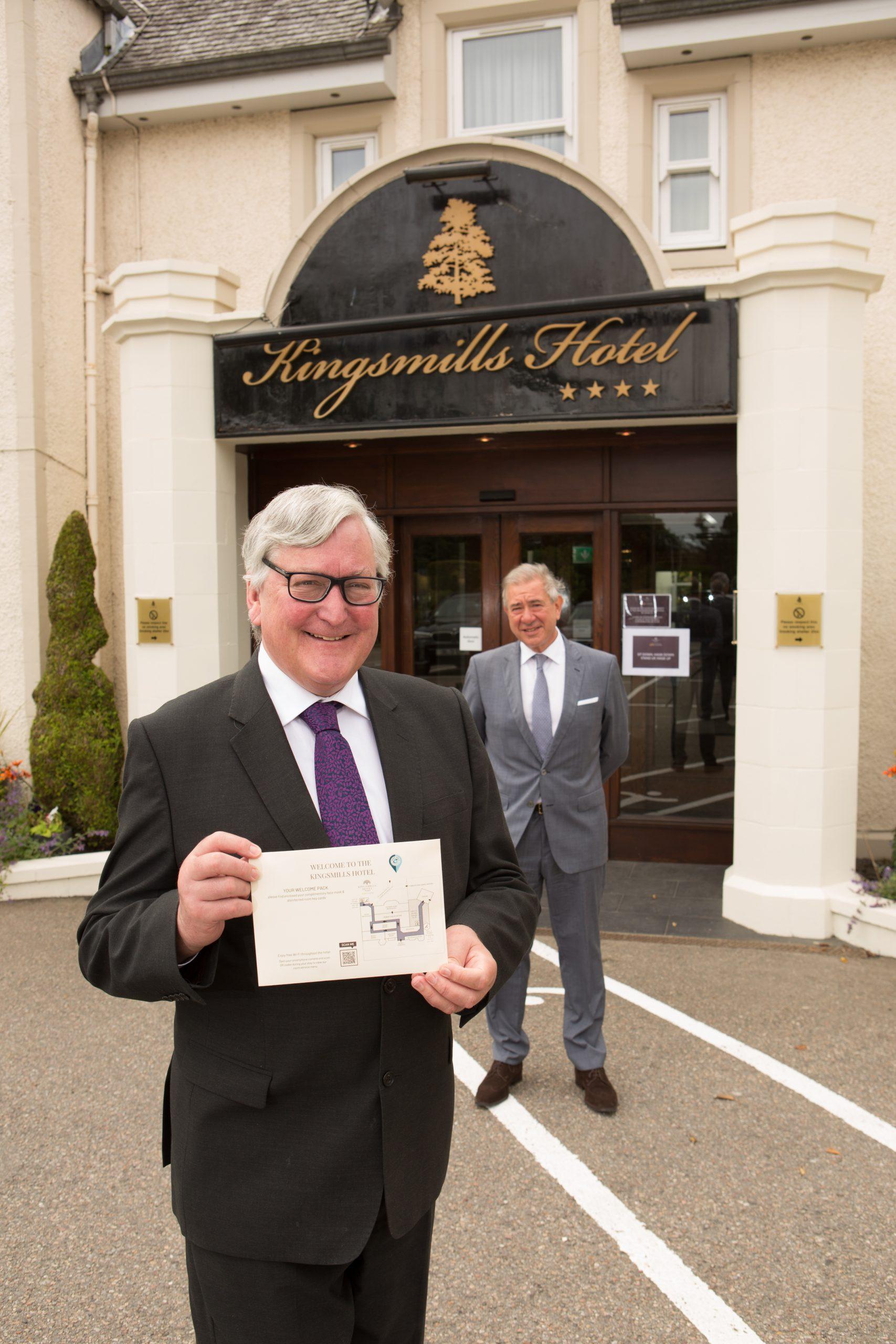 Fergus Ewing outside the Kingsmills hotels