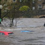 Picture of flooding in a town