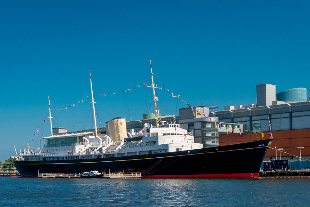 Exterior of Royal Yacht Britannia