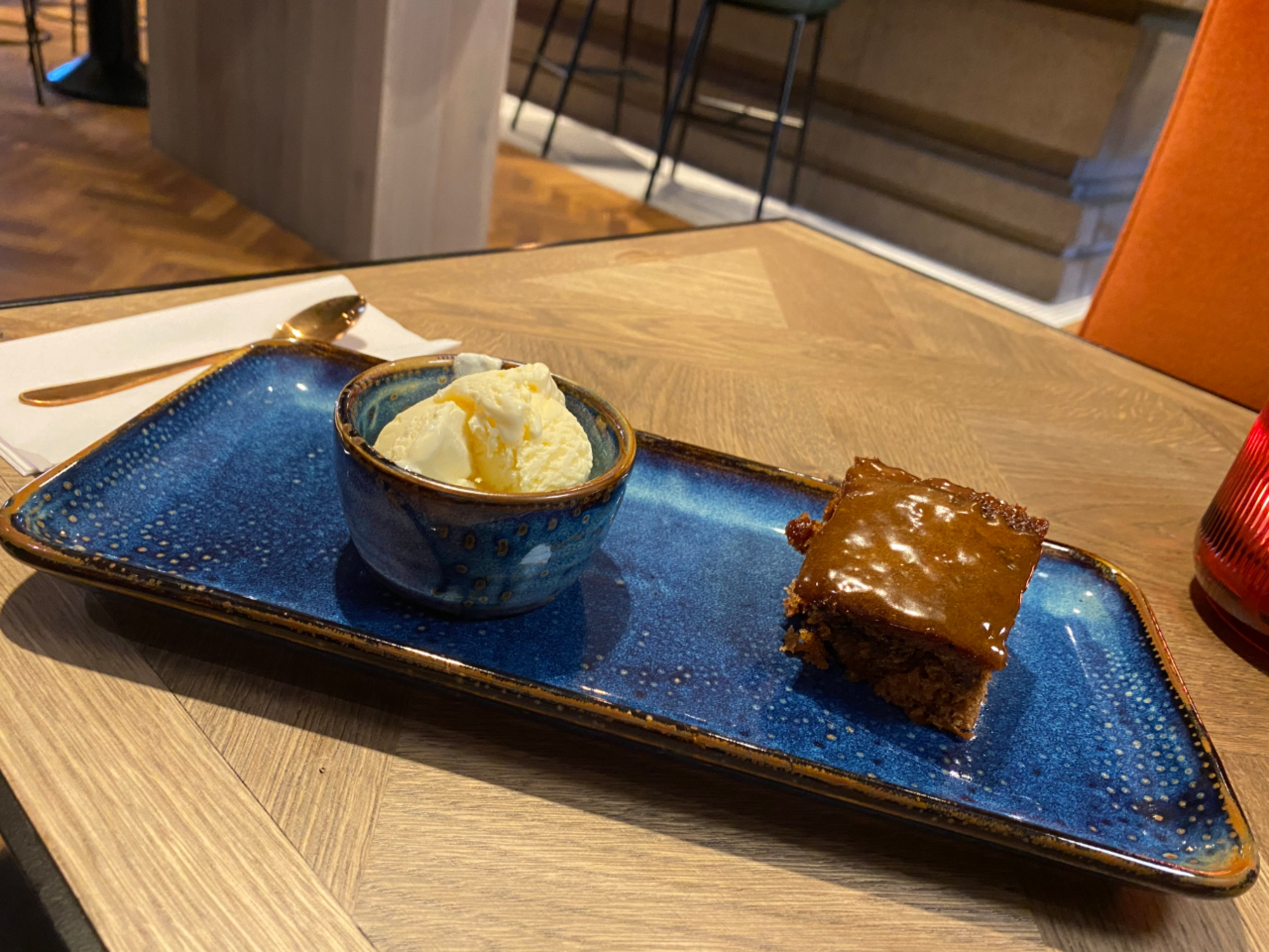 Sticky toffee pudding with Mackie's ice cream - Food and Drink News Scotland