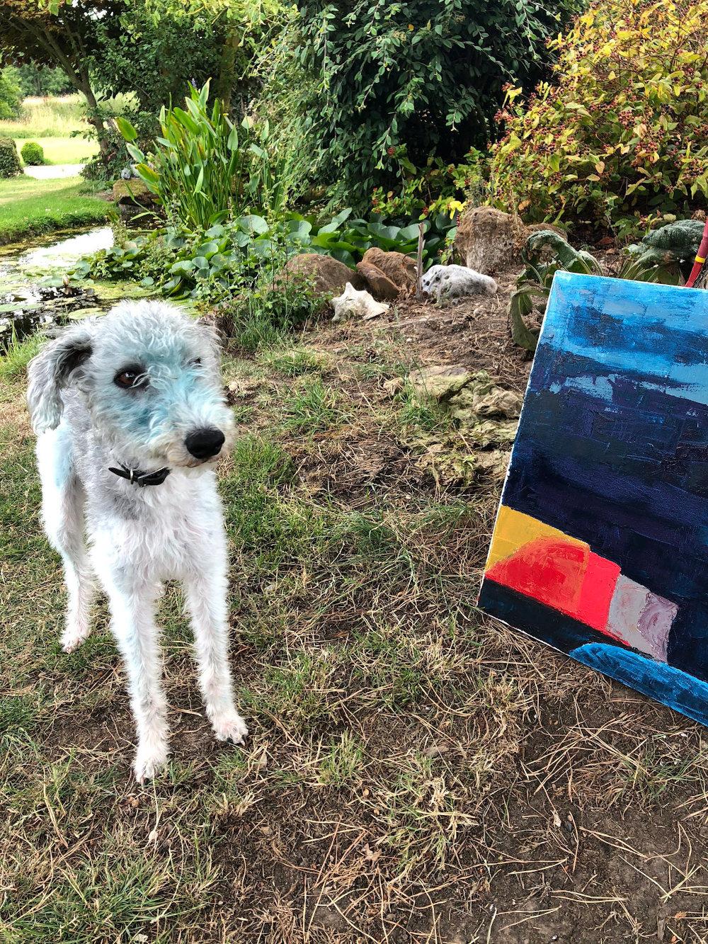 Bessie blue paint