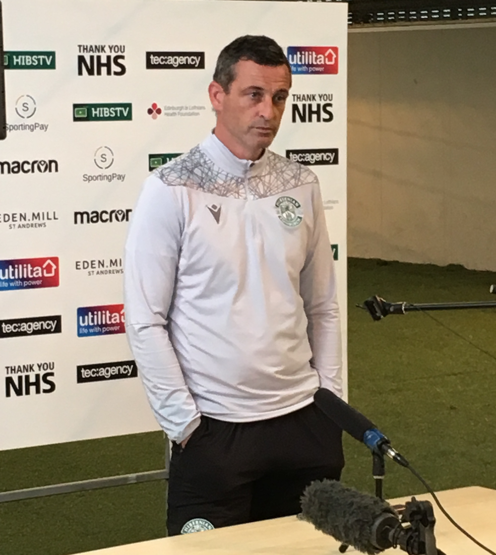 Hibs boss Jack Ross reveals Liam Gordon mistake at Hearts | Hibs News