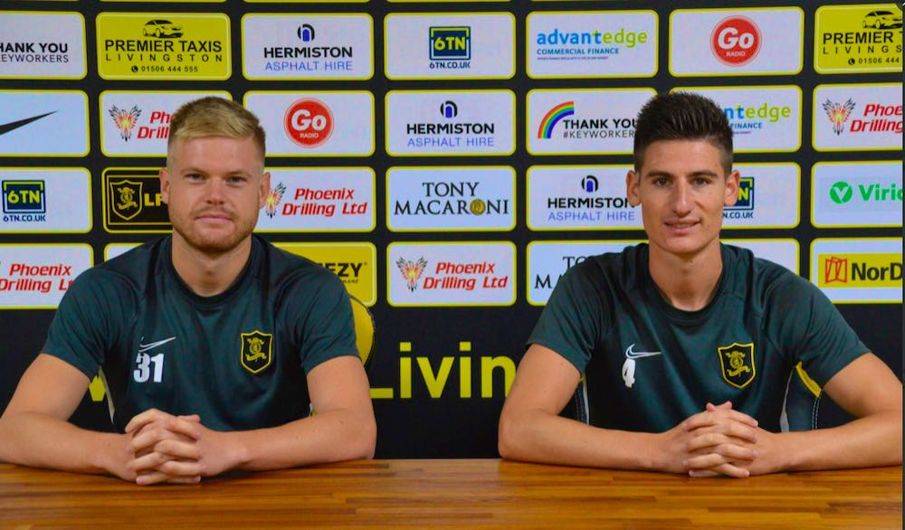 Lars Lokotsch and Julien Serrano are unveiled by Livingston | Livingston news
