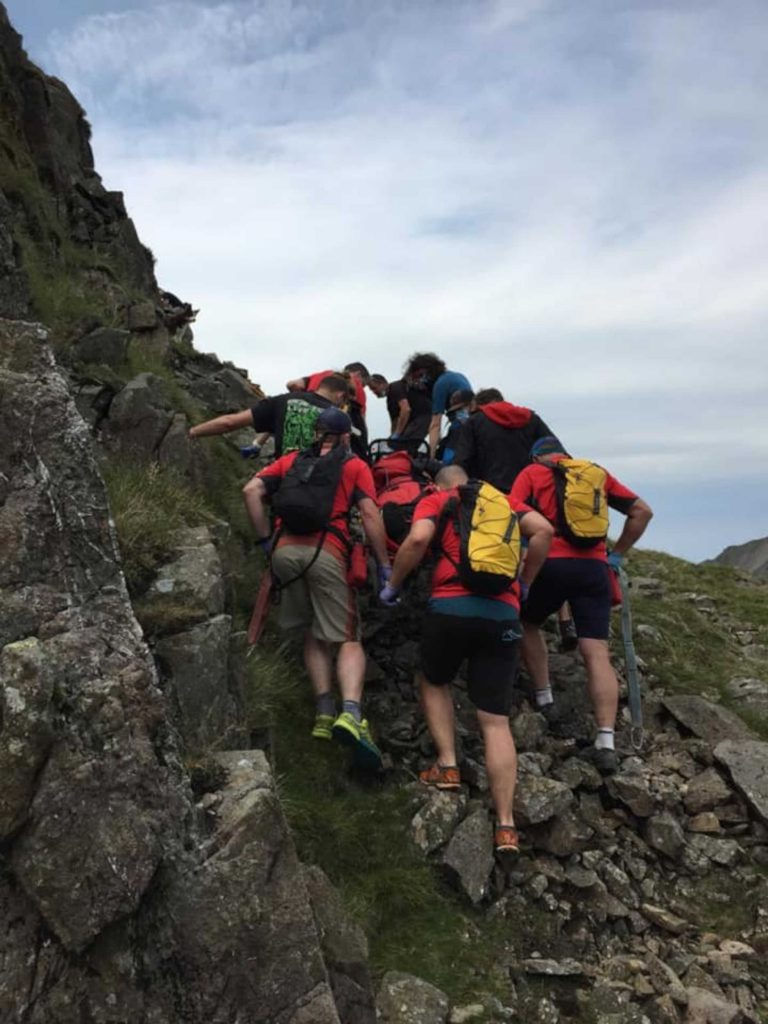 A mountain climber was rescued by Keswick Mountain Rescue Team after his fall