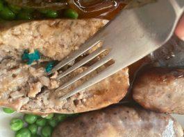 Plastic in sausages