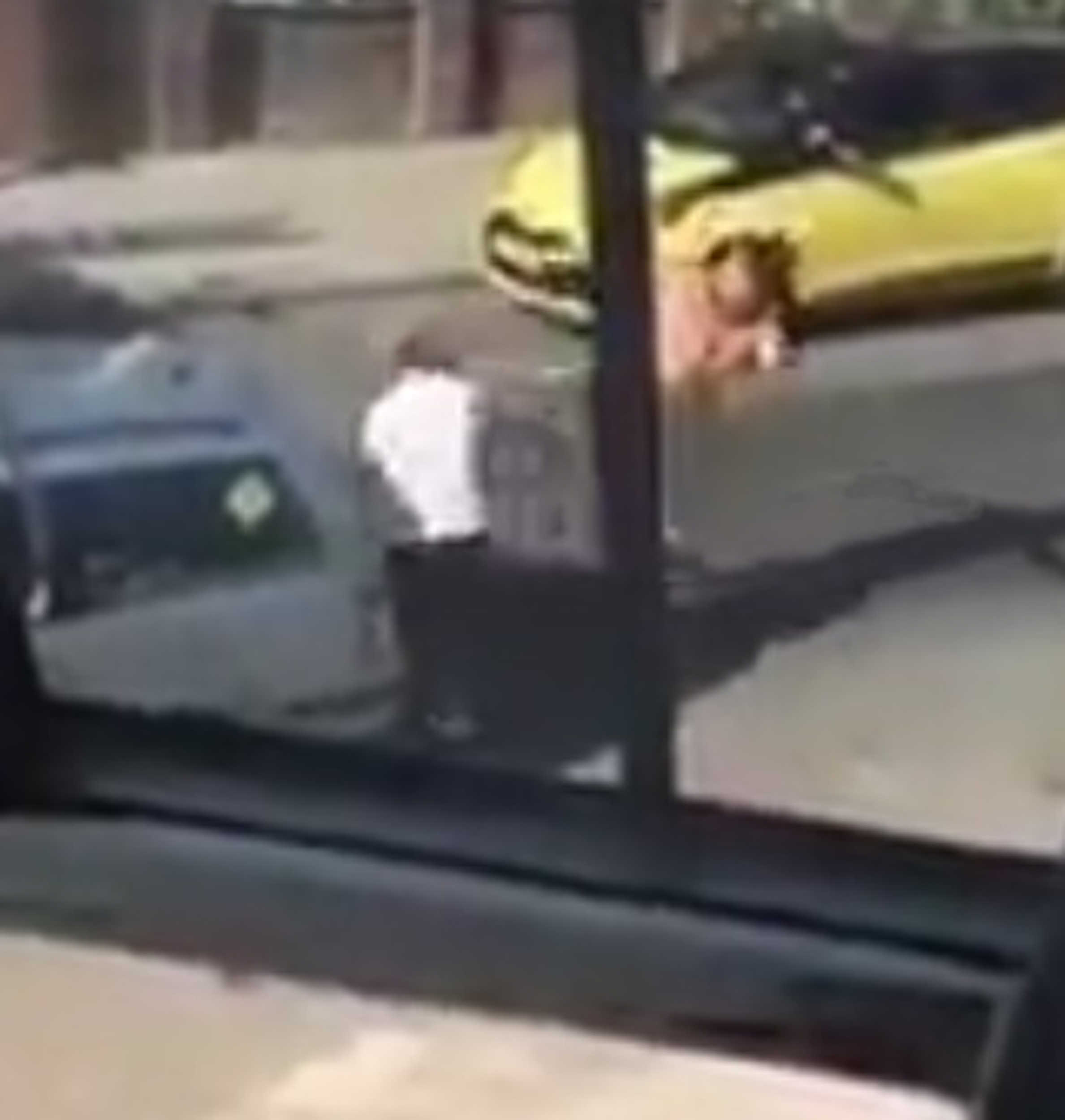 This is the moment one of the men delivers a kick to the other man| By Deadline News, Viral Video News