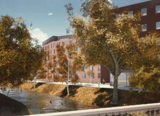 The new housing development at Gorgie