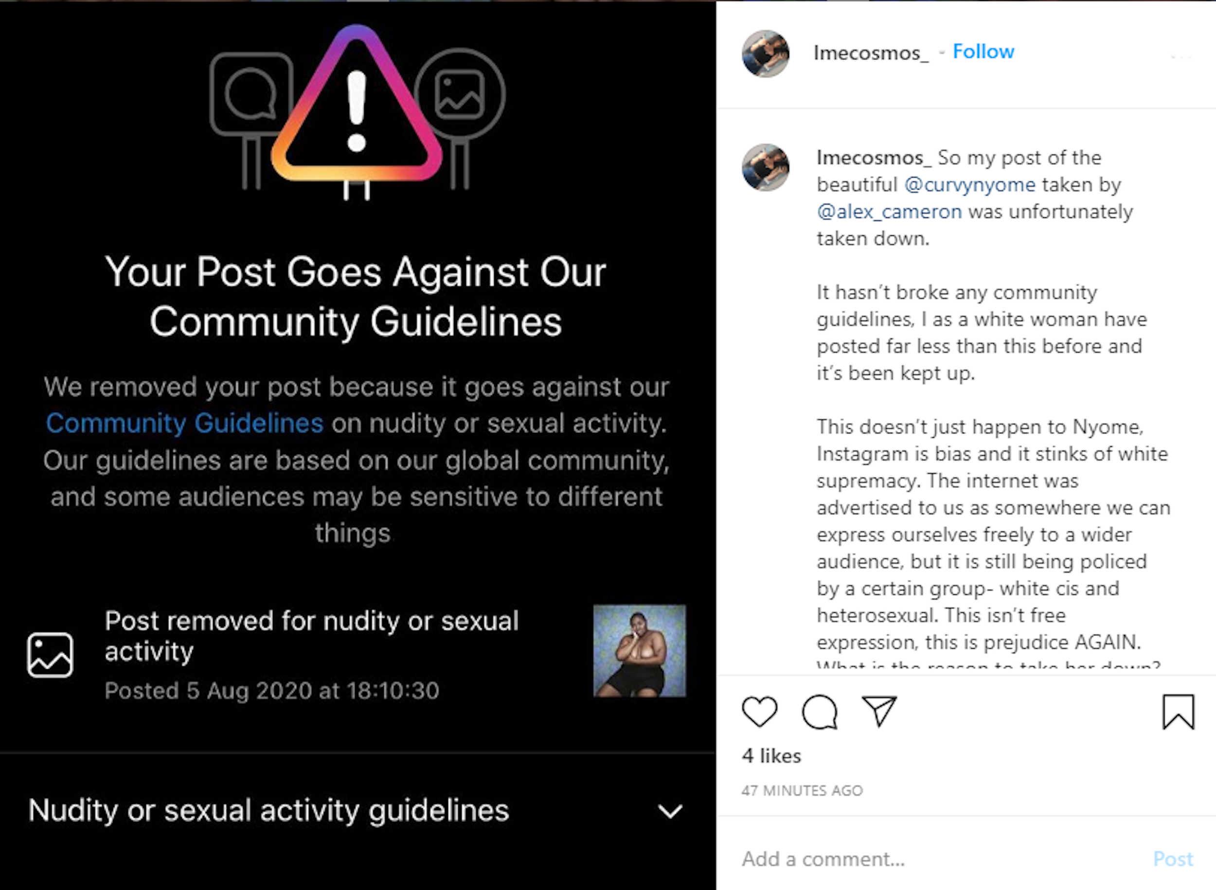 Instagram censor model