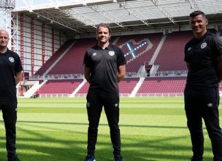 Hearts boss and assistants Gordon Forrest and Lee McCulloch at Tynecastle   Hearts news