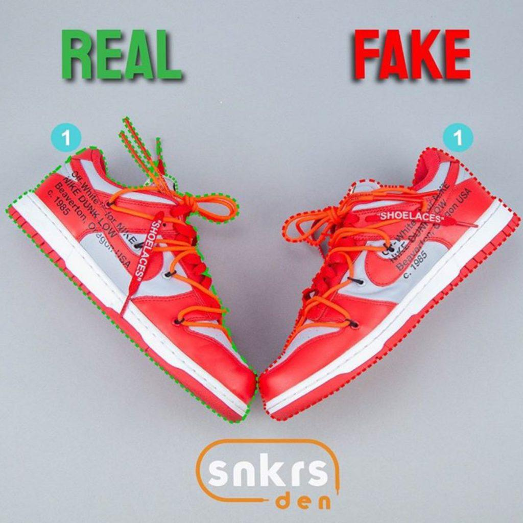 how to spot a fake or authentic shoe
