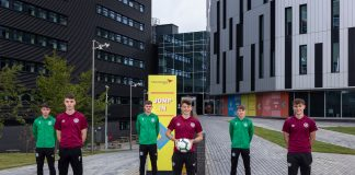 Players outside Edinburgh Napier student halls- Scottish News