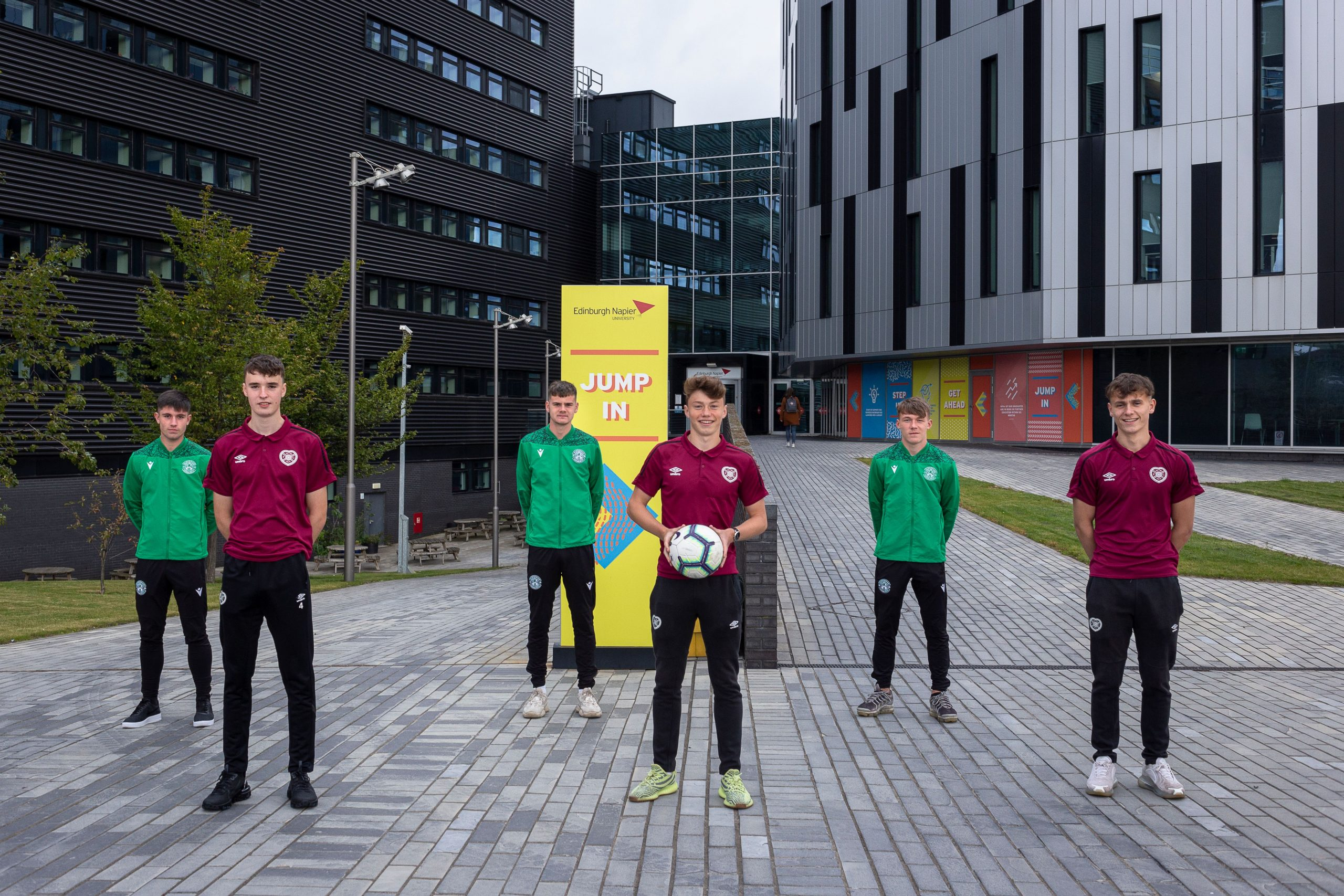 Players outside Edinburgh Napier student halls- Scottish News