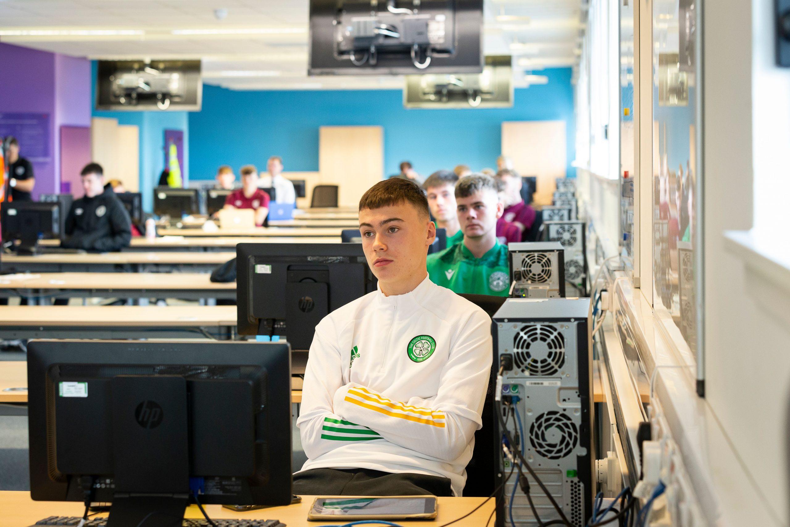 Players sat inside a class-Scottish News