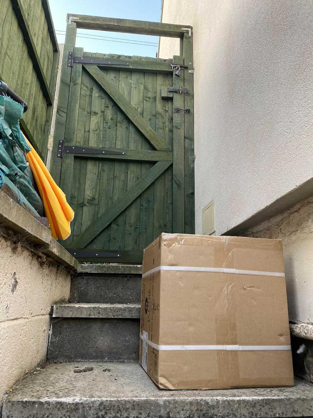 Parcel behind fence