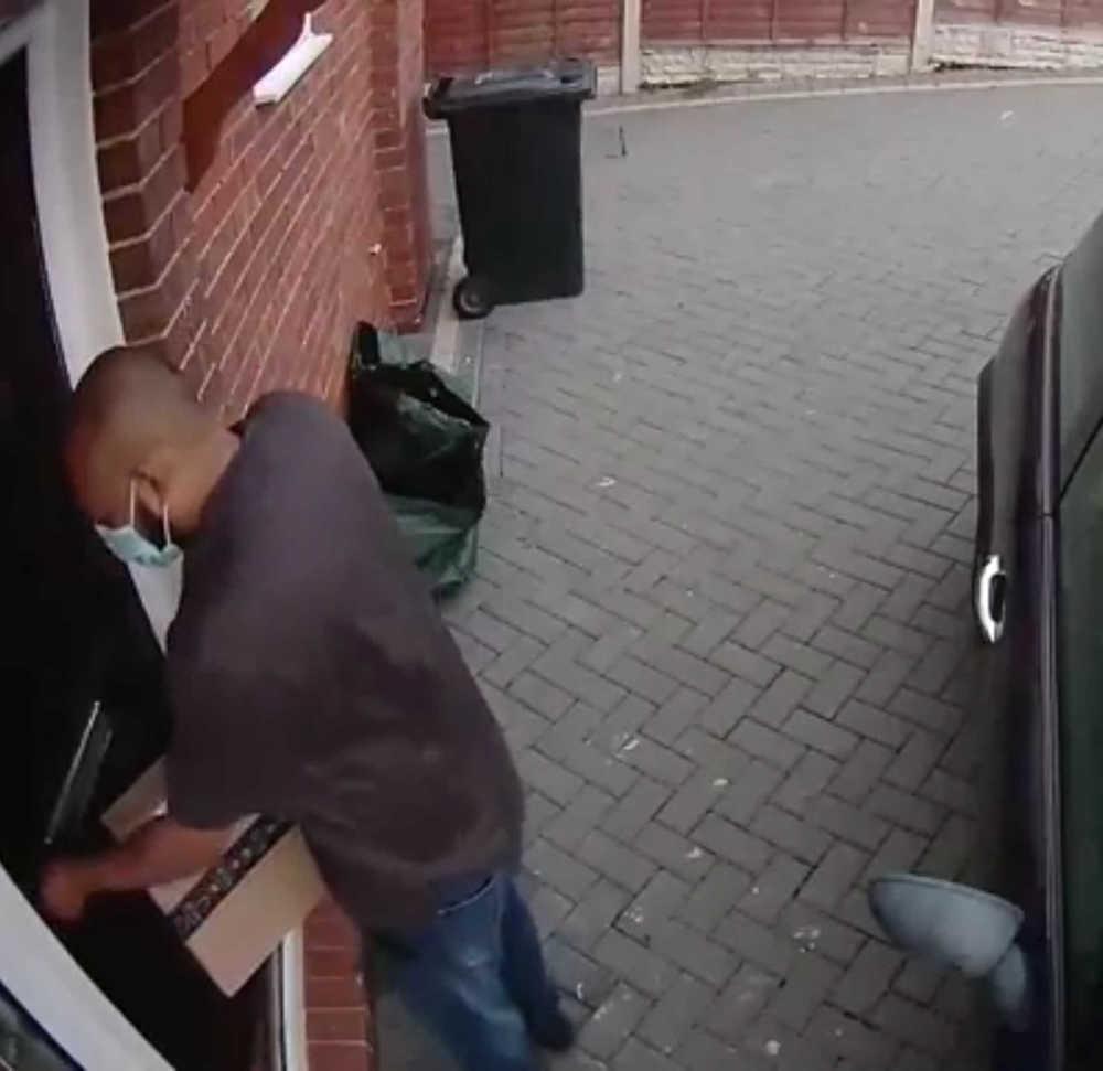 Delivery driver at door