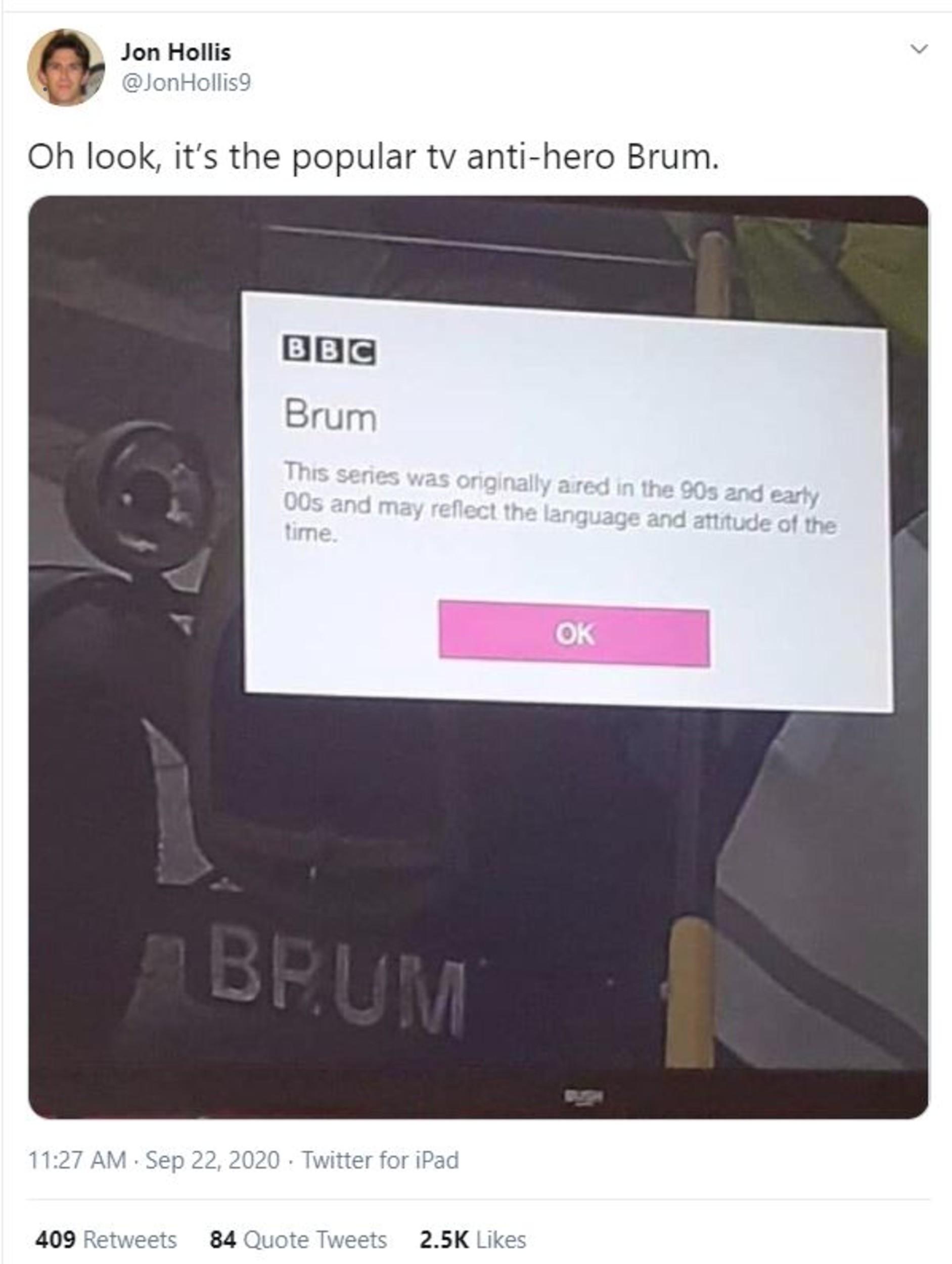 Twitter Post Brum- Entertainment News