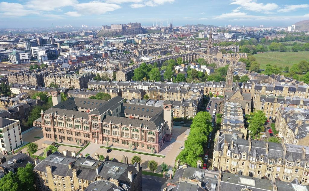 CALA sales and maketing Boroughmuir development courtyard view