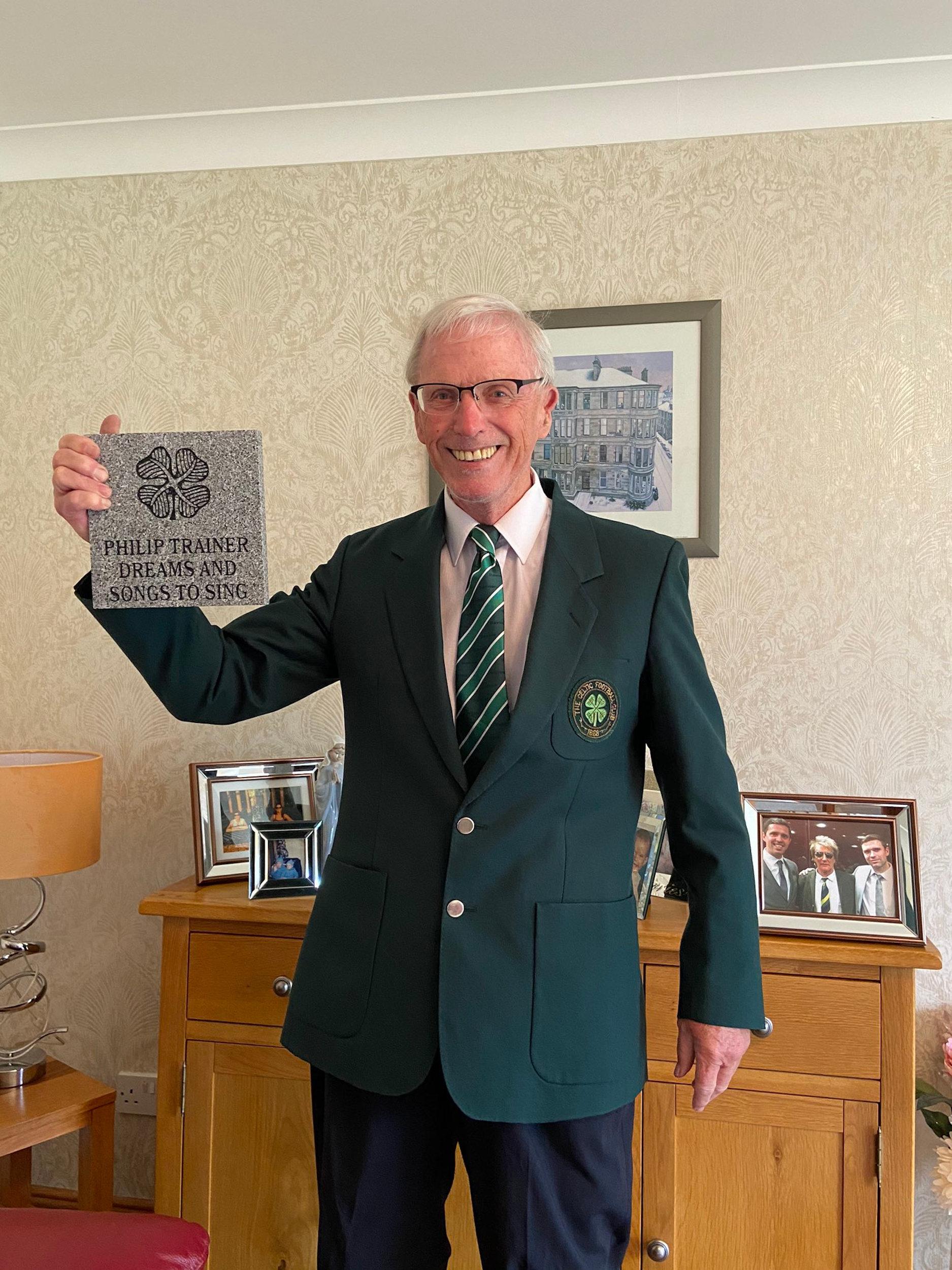 Philip with his plaque-Scottish News