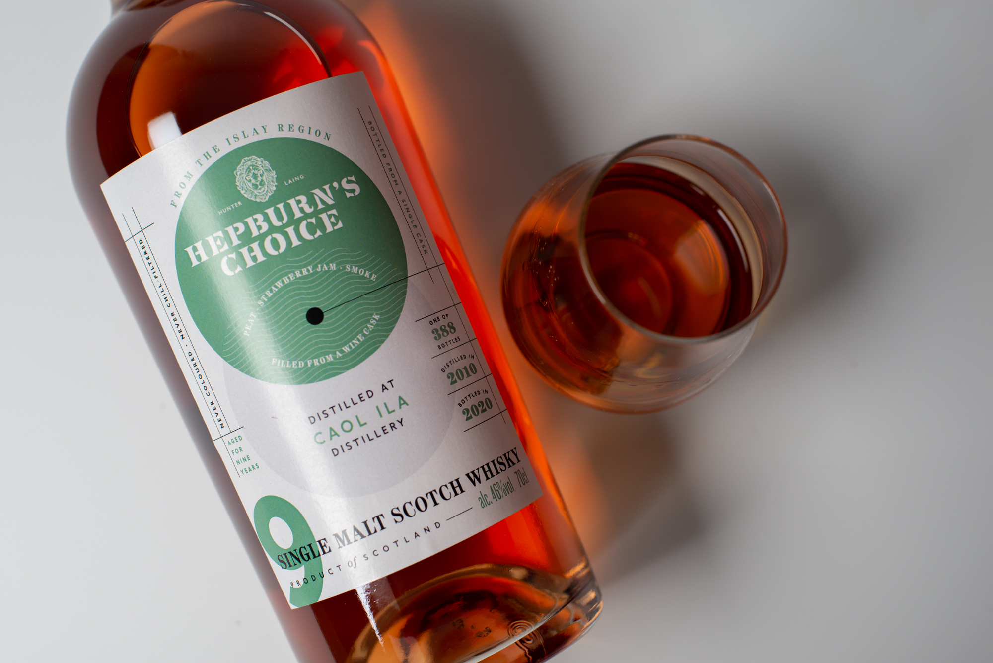 A bottle of Hepburn Whisky - Food and drink News Scotland