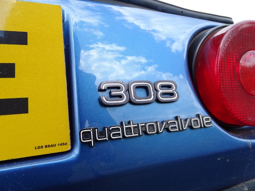 back of Ferrari