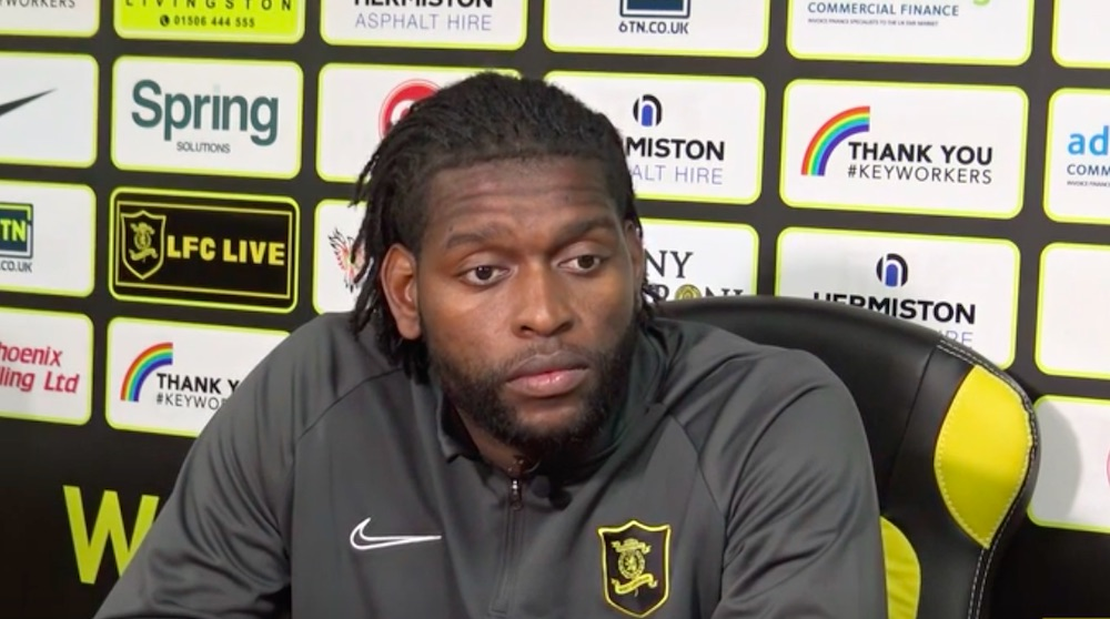 Jay Emmanuel-Thomas has signed a one-year deal with the option of a further season   Livingston news