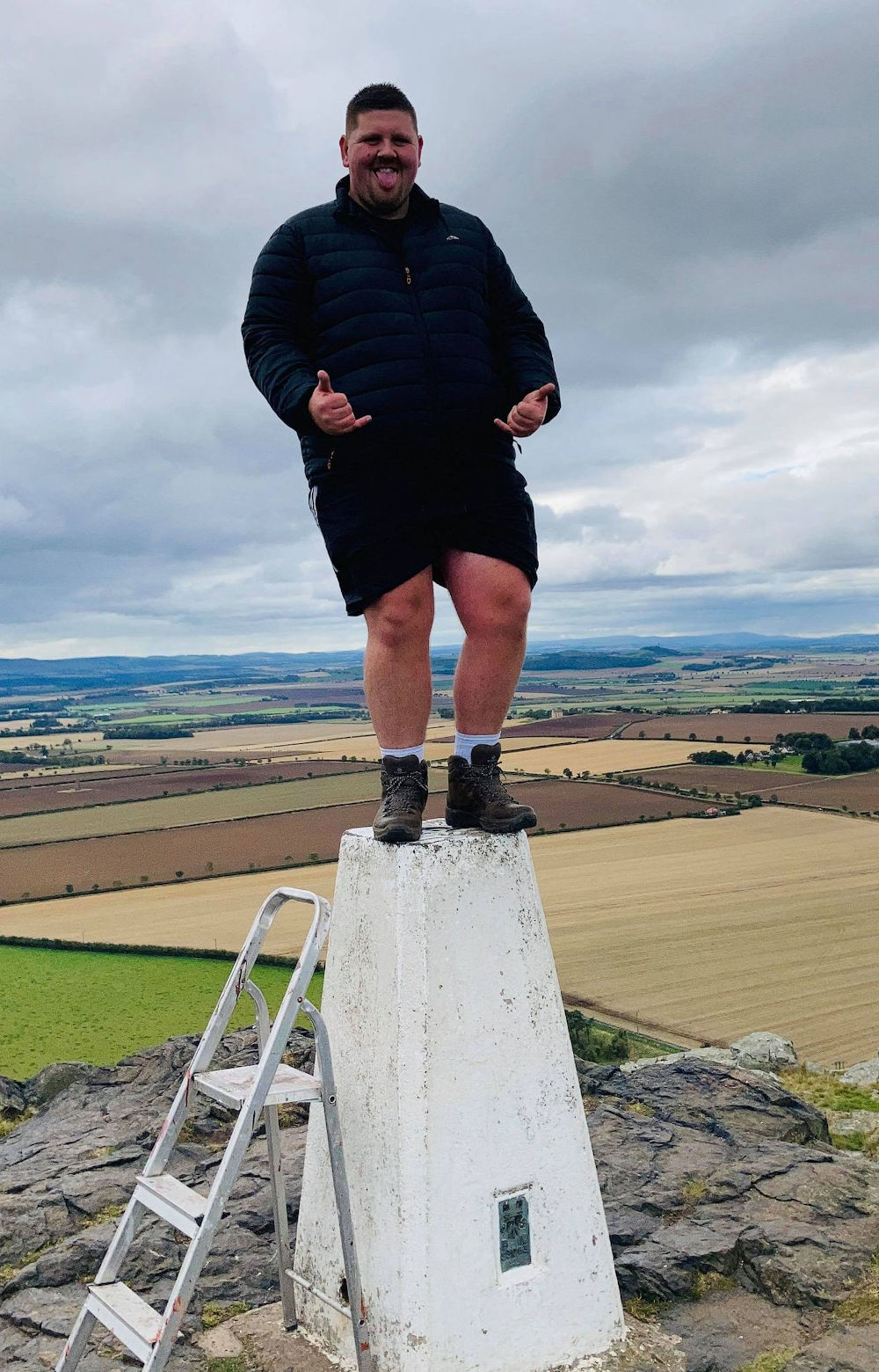 Dave on trig point