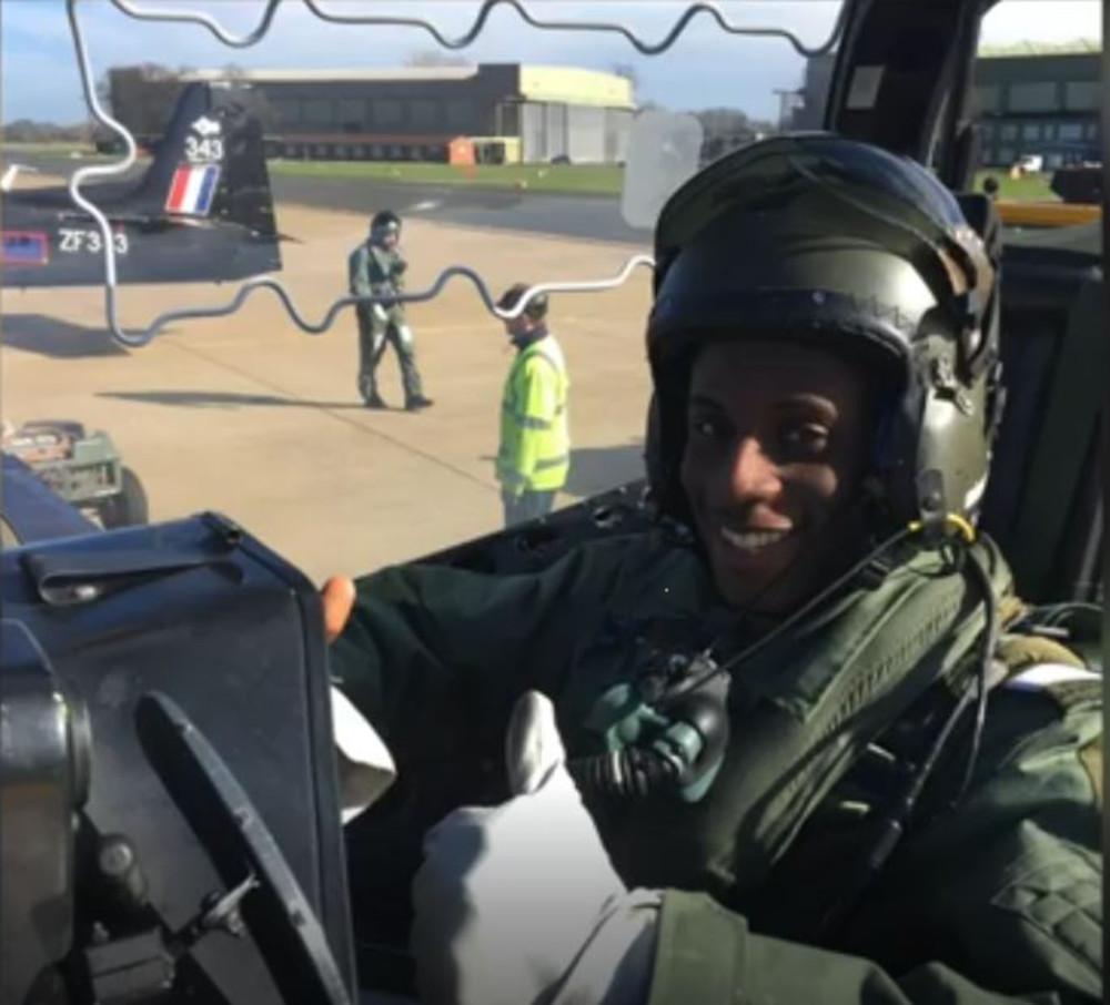 Rasheed in cockpit