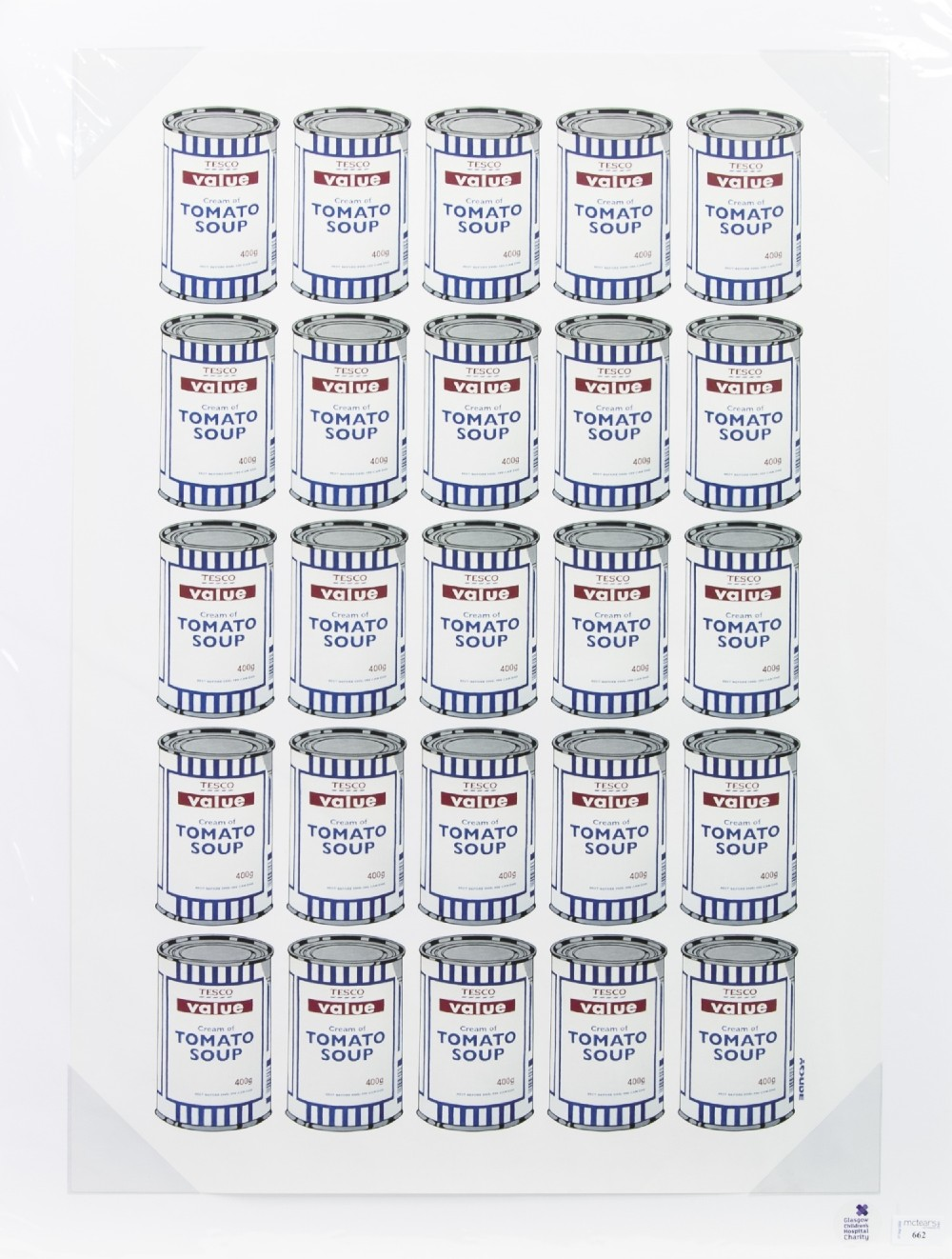Soup Cans - an offset lithograph by Banksy-Scottish News