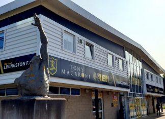 The facade of the Tony Macaroni Arena   Livingston news