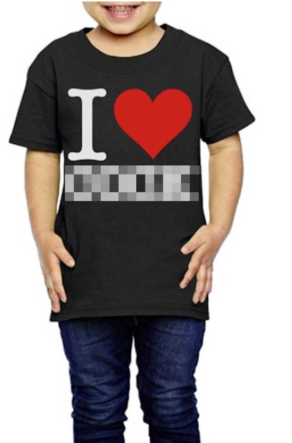 Boy wearing Amazon T shirt