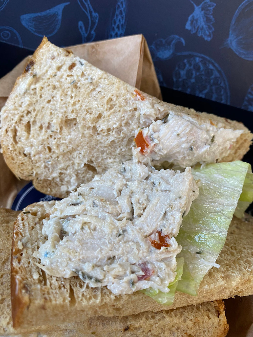 Chicken sandwich BA flight