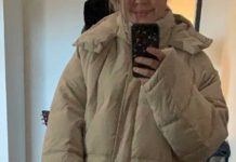Erin Gillogley wearing the puffy jacket