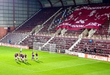 Hearts celebrate their third goal against Dundee | Hearts news