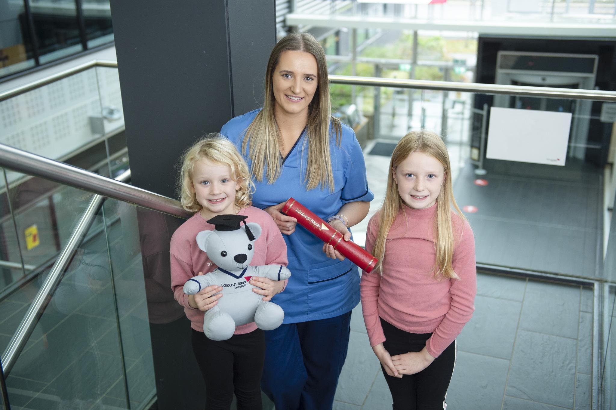 Nurse with family