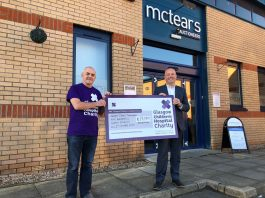McTear's MD Brian Clements with charity supporter Steve McGill - Scottish News