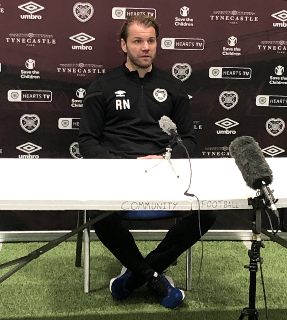 Hearts manager Robbie Neilson addresses the media | Hearts news