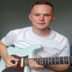 Matt with new guitar