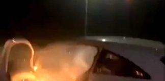 The rocket inside the car- Viral News Scotland