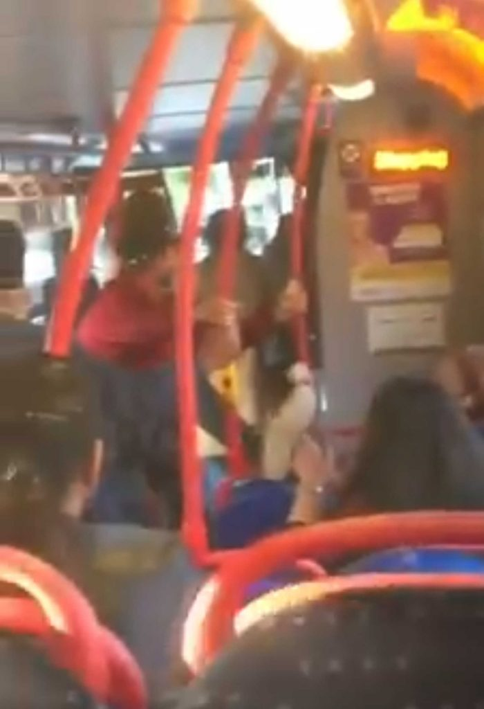 Man floored to ground after trying to kick girl in face