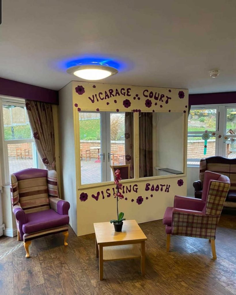 Vicarage Care home Visiting booth