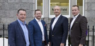 From left to right: David Rennie with Harry, Mark and Philip Patterson - Scottish Business News