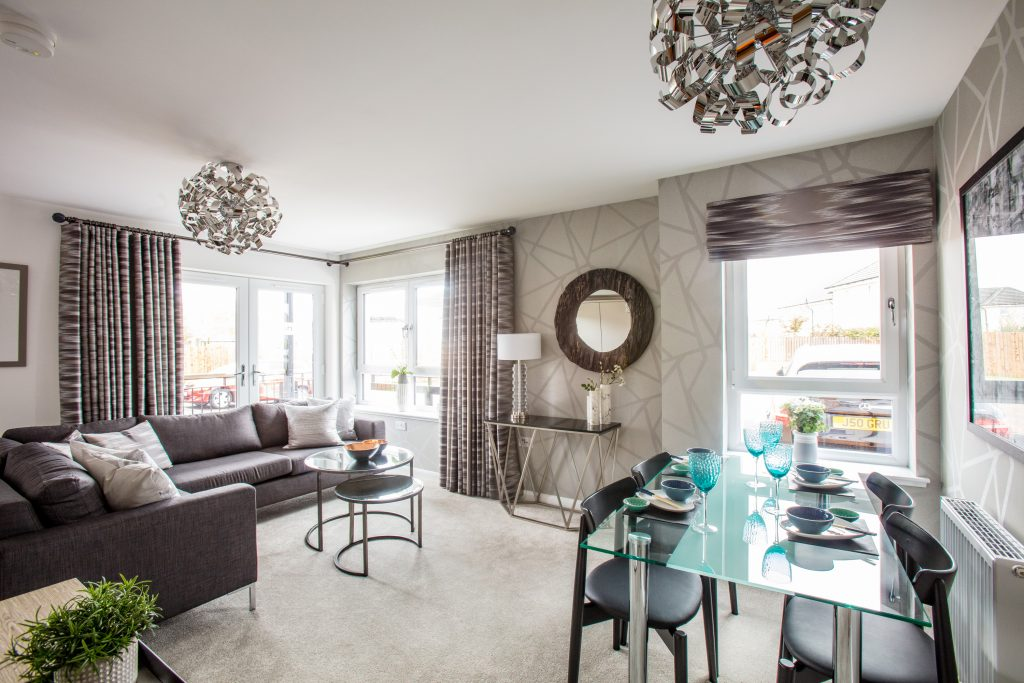 Calderwood Village living space apartment   Scottish Business News