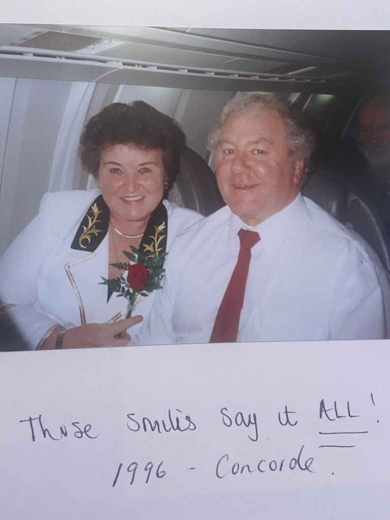 Cecilia and Thomas Leishman on Concorde in 1996 | Community News