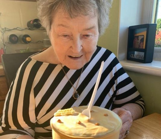 Cecilia Leishman with Mackie's Salted Caramel birthday cake   Community News