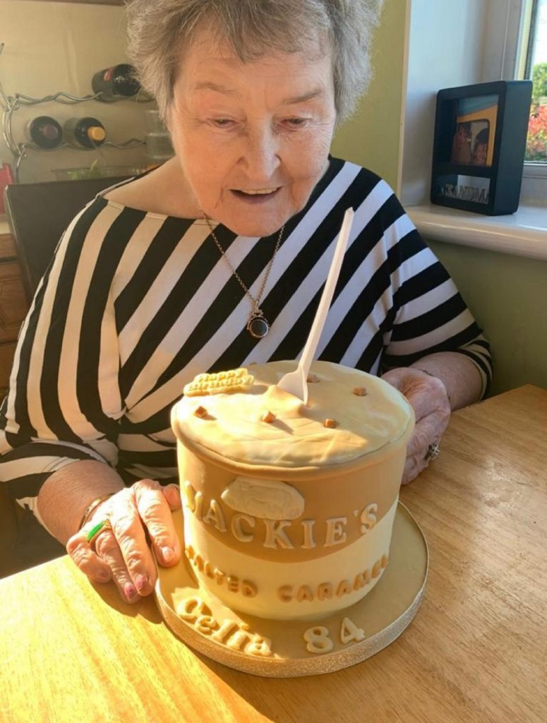 Cecilia Leishman with Mackie's Salted Caramel birthday cake | Community News